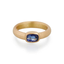 Cushion Cut Sapphire Ring, 22ct Gold