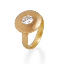 Antique Brilliant Cut Diamond Disc Ring, 22ct Gold