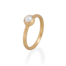 Natural Pearl Ring, 22ct Gold