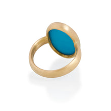 Large Turquoise Ring, 22ct Gold