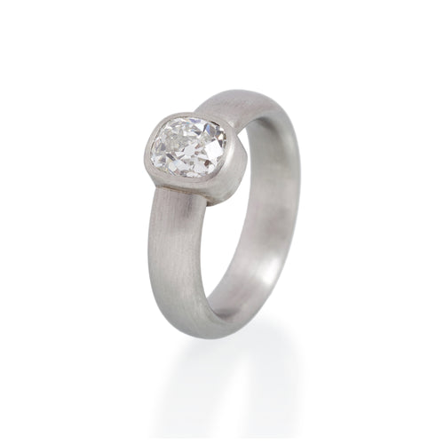 Cushion Cut Diamond Ring, Platinum