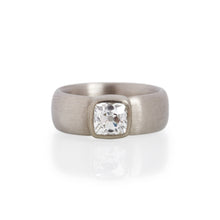 Cushion Cut Diamond Ring, 18ct White Gold