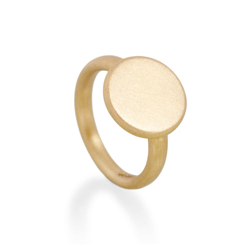 Circular Signet Ring, 22ct Gold