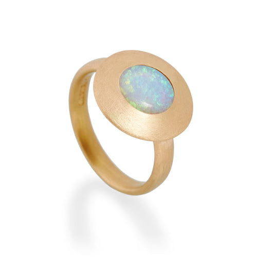 Opal Disc Ring, 22ct Gold
