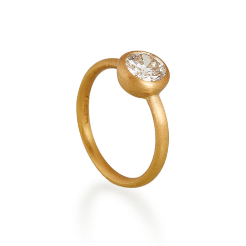 Old Brilliant Cut Diamond Ring, 22ct gold