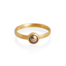 Black Pearl Ring, 22ct Gold