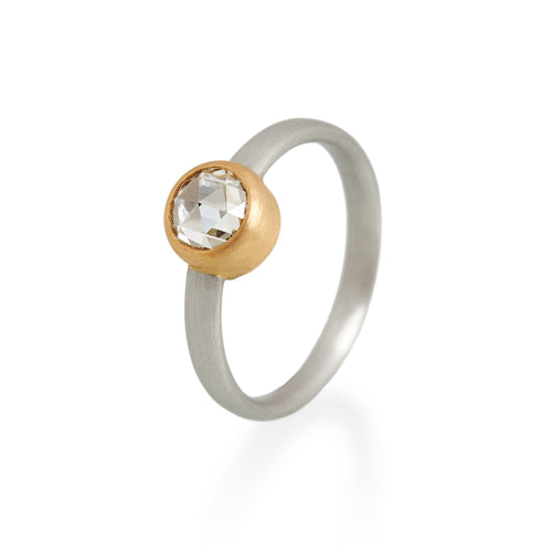 Rose Cut Diamond Ring, Platinum & 22ct Gold