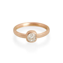 Cushion Cut Diamond Ring, 18ct Rose Gold