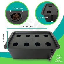 DWC Hydroponics Growing System - Medium Size Kit w/Airstone, Bucket, Air Pump, Rockwool - Best Indoor Herb Garden for Cilantro, Mint - Complete Hydroponic Setup
