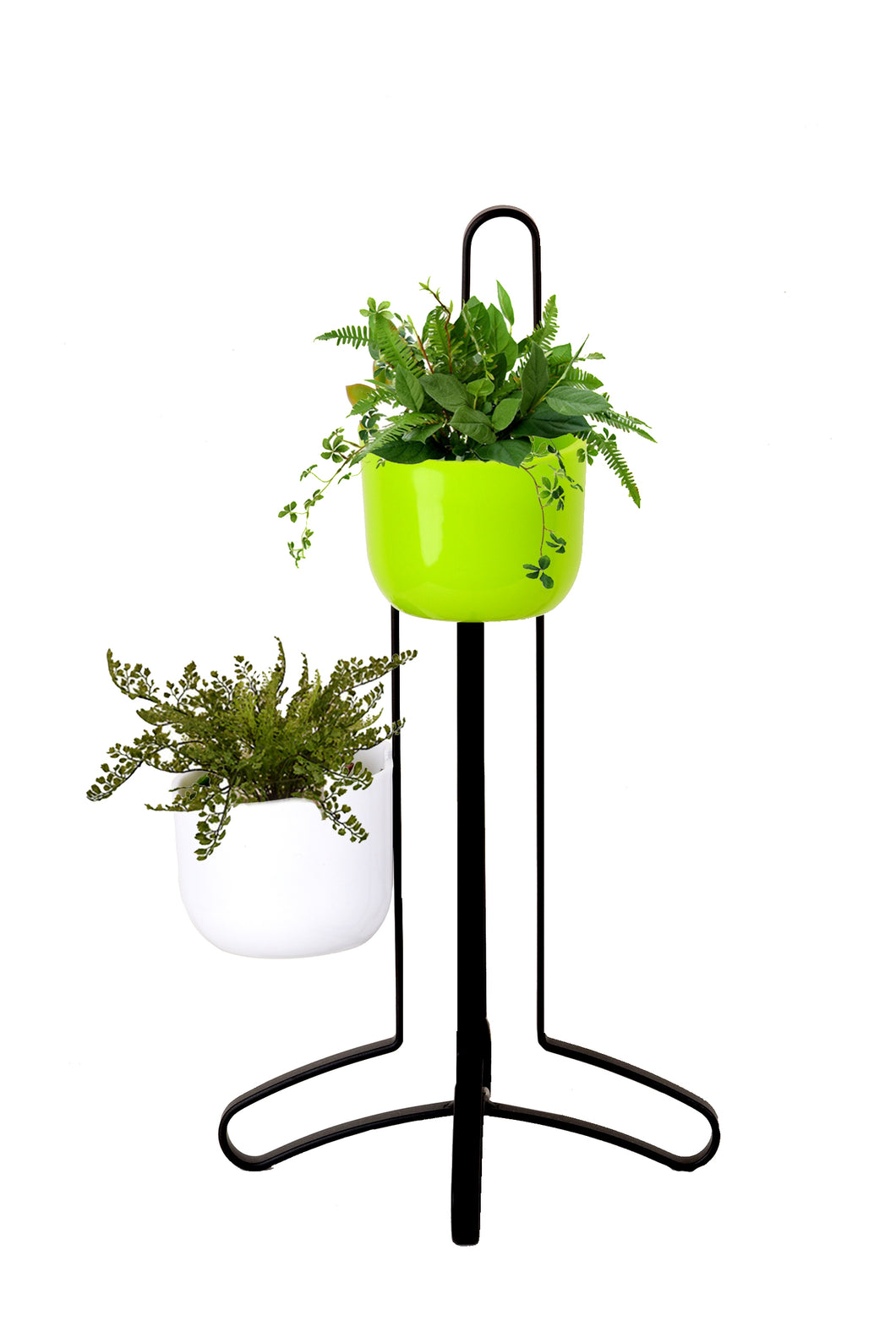 Crafty small hanging planters with magnetic metal stand stand pots