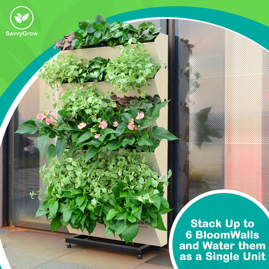 ... BloomWall   Self Watering Vertical Planter With Hanging Bracket ...
