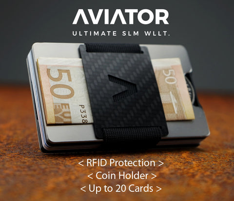 Aviator Wallet with RFID Protection