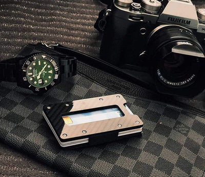 Carbon Fiber Wallet | Card & Coin Holder Slim Wallet