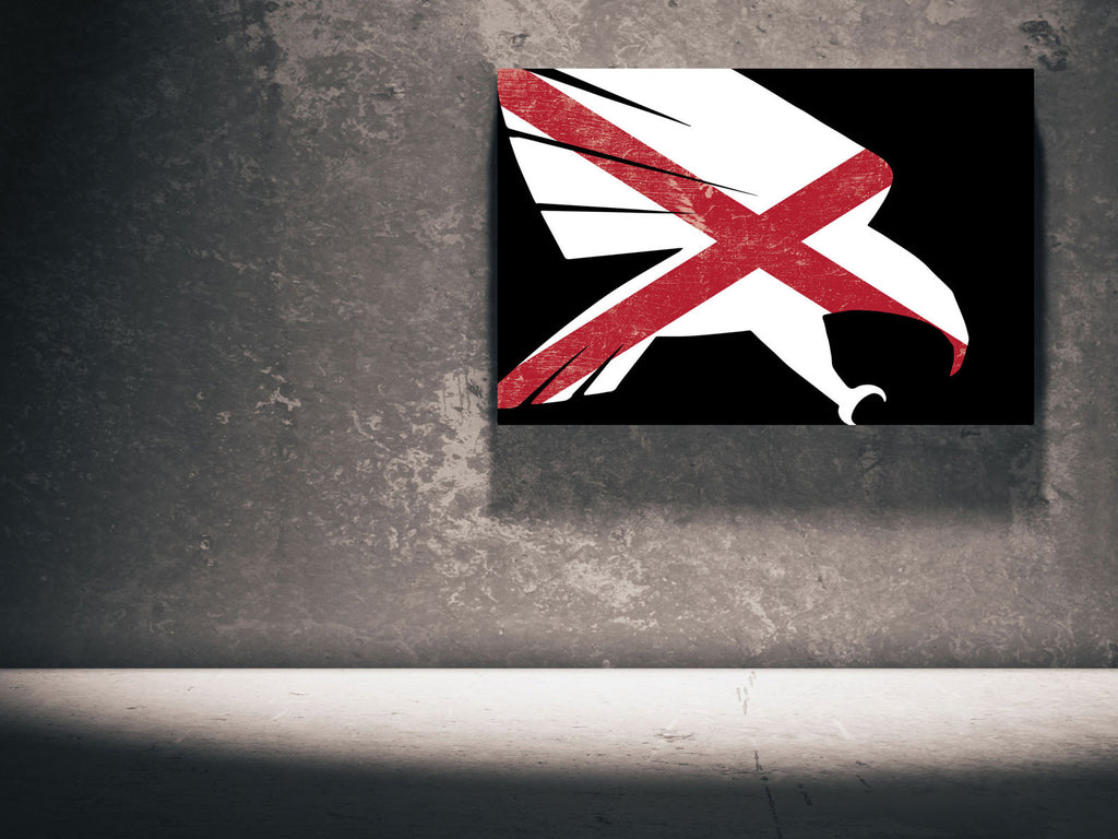Canvas The Falcon - Alabama Flag