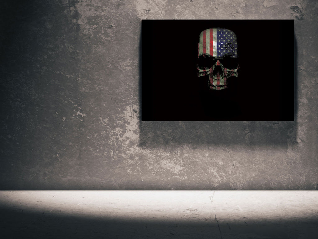 Canvas Skull - US Flag