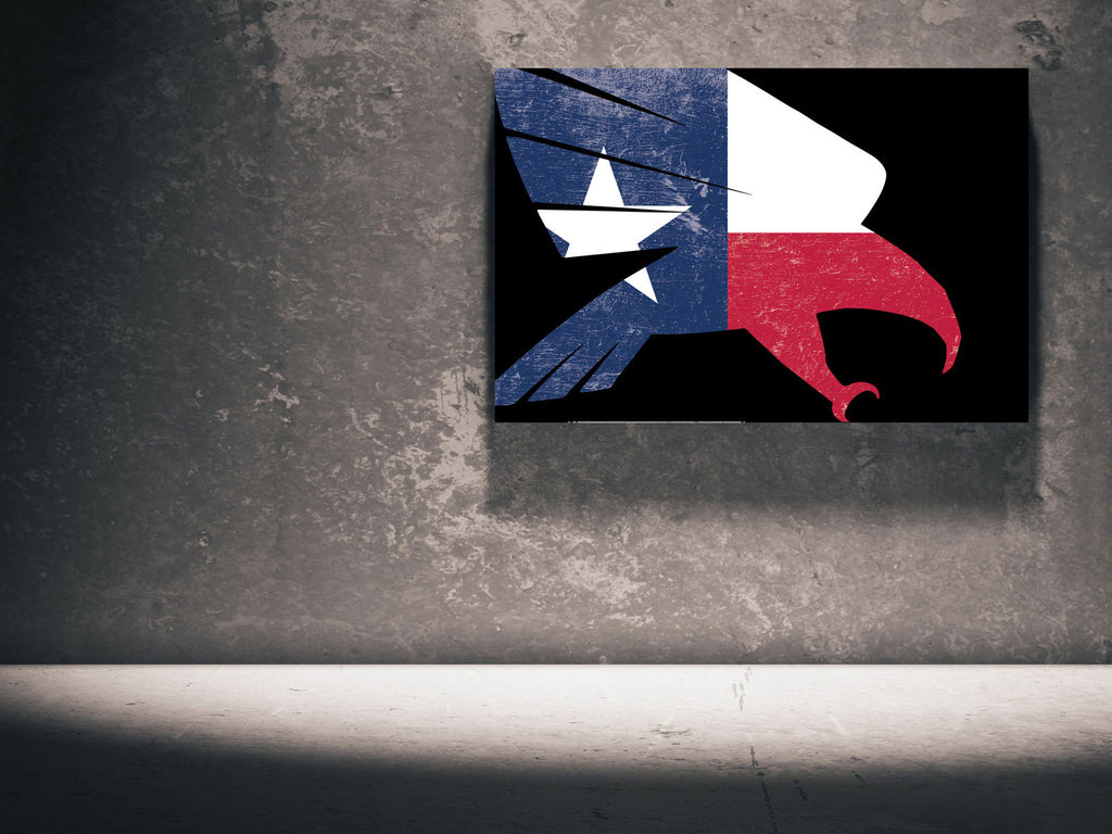 Canvas The Falcon - Texas Flag