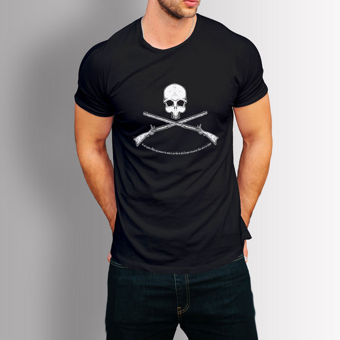 Tshirt Second amendment - Skull & rifles (Black)