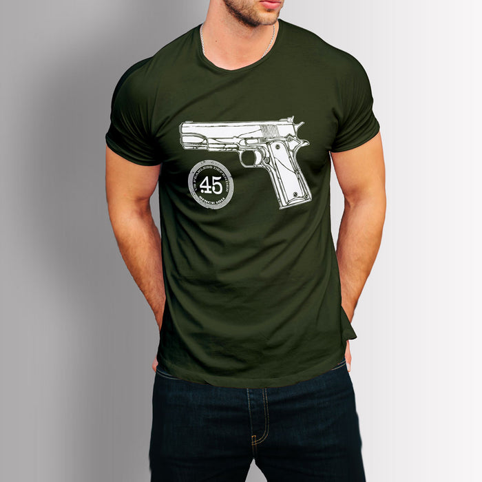Tshirt US Classics - Colt 45 1911 (Military Green)