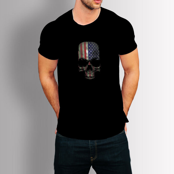 Tshirt US Skull (Black)