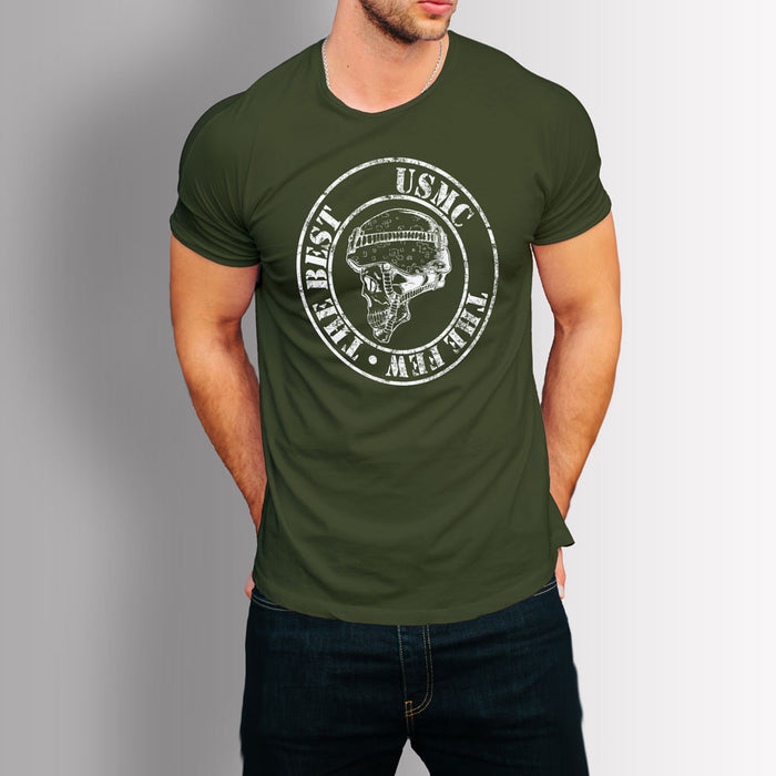 Tshirt - USMC : The Few, the Best (Military Green)