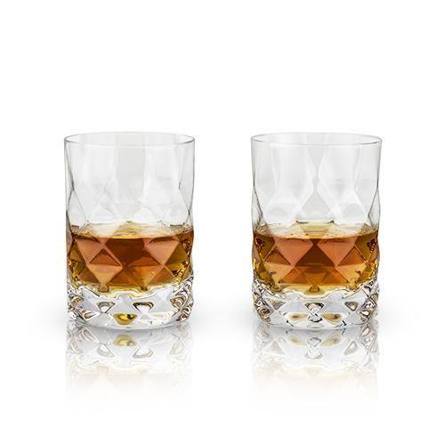 Gem Crystal Tumblers - Cocktail Glasses