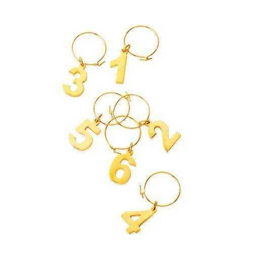 Gold Plated Wine Charms - Wine Charms