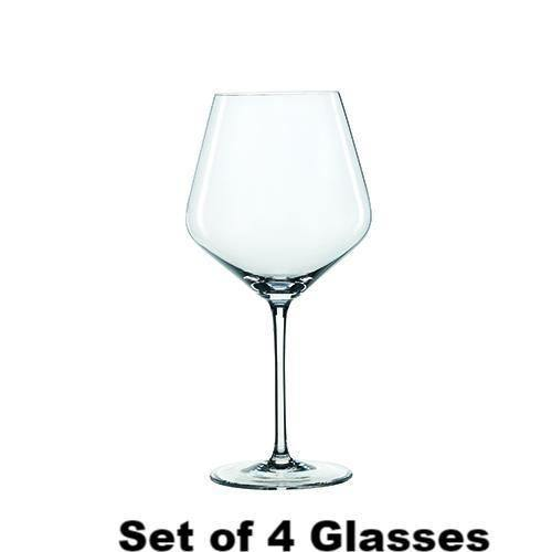 Wine Glass Angle Cut- Red Burgundy Style - Wine Glasses