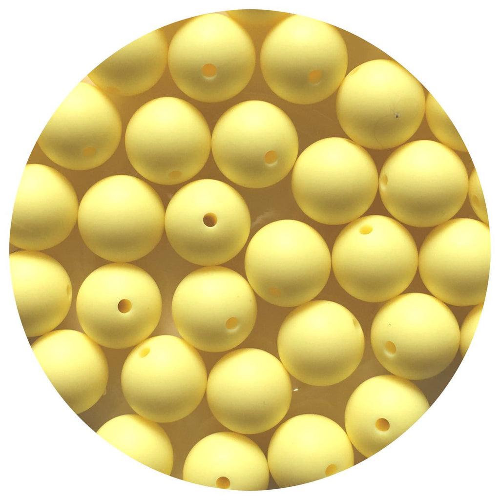 Buttery Yellow - 15mm round - 10/20/50pack