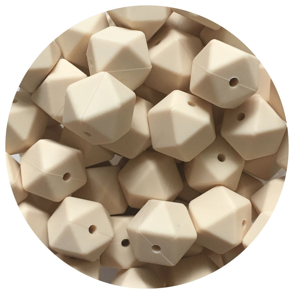 Beige - 17mm Hexagon - 10/20/50pack