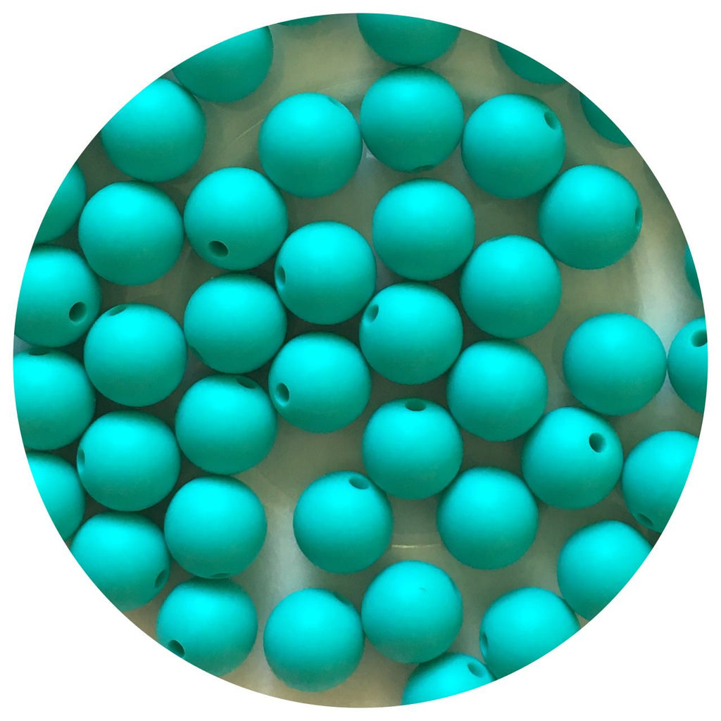 Turquoise - 12mm Round - 10/25pack