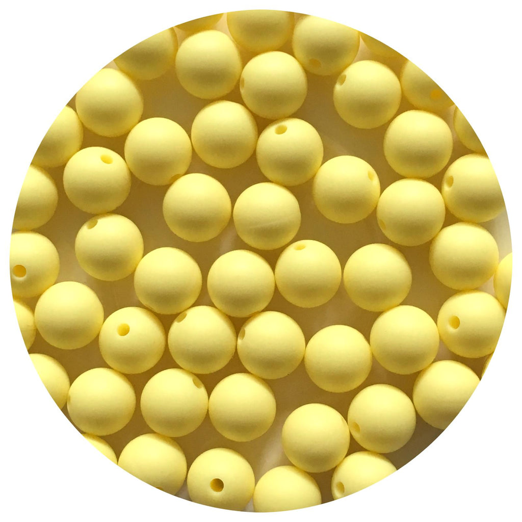 Buttery Yellow - 12mm Round - 10/25pack