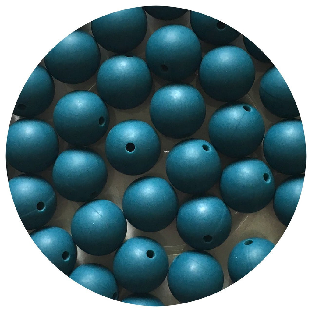 Deep Teal - 15mm round - 10/20/50pack