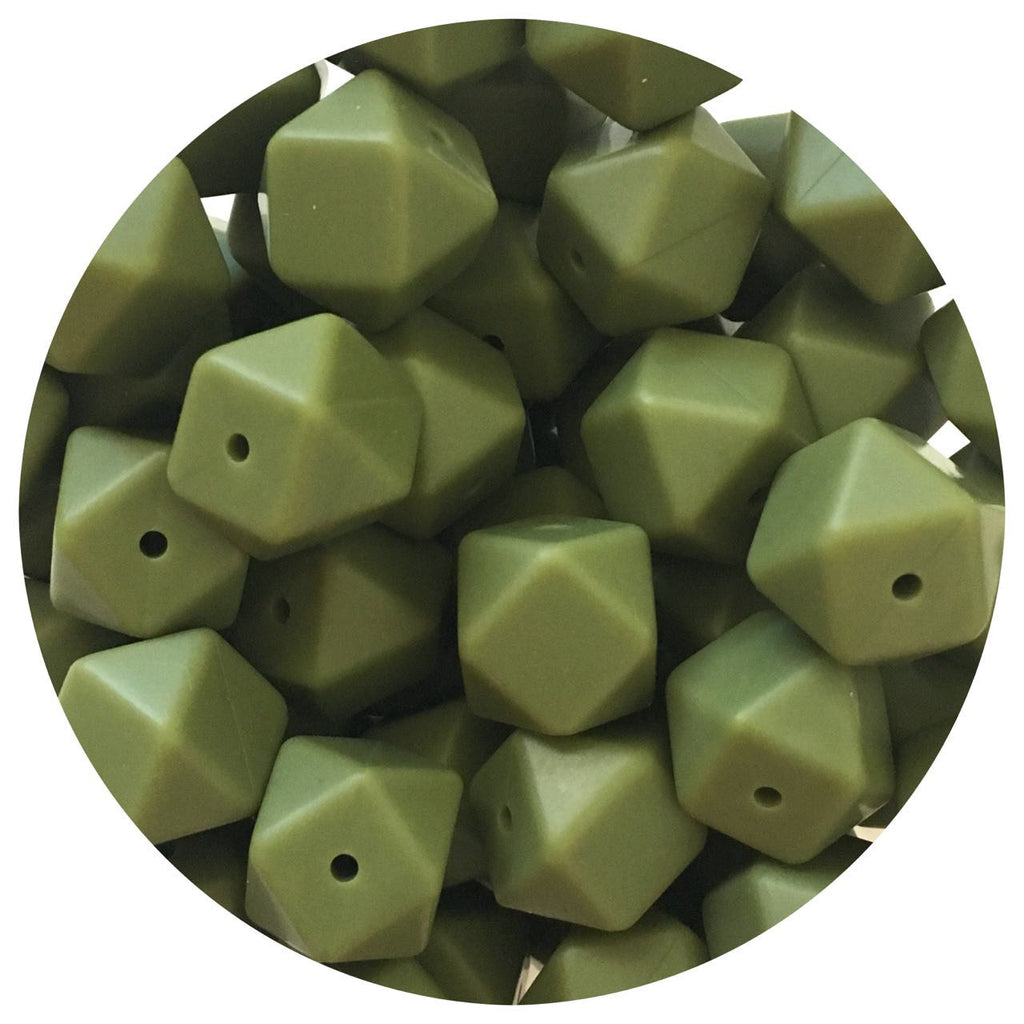 Army Green - 17mm Hexagon - 10/25pack