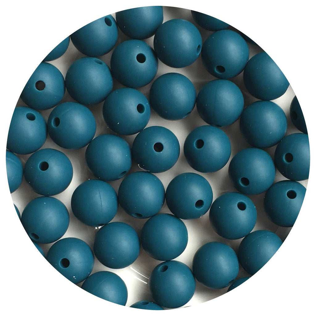 Deep Teal - 12mm Round - 10/25pack