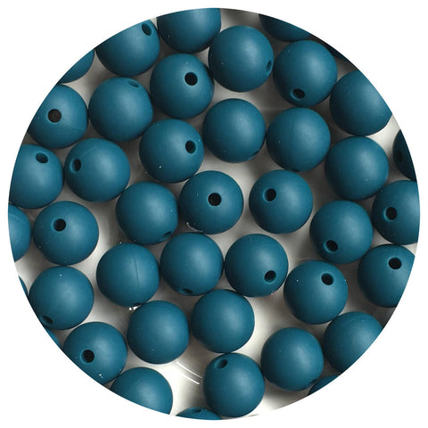 Deep Teal - 12mm Round - 10/20/50pack