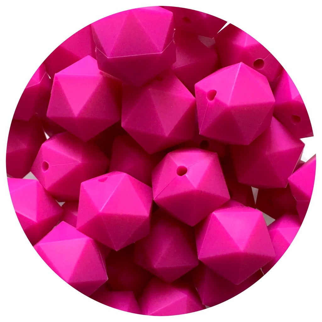 Hot Pink - 17mm Icosahedron - 10/20pack