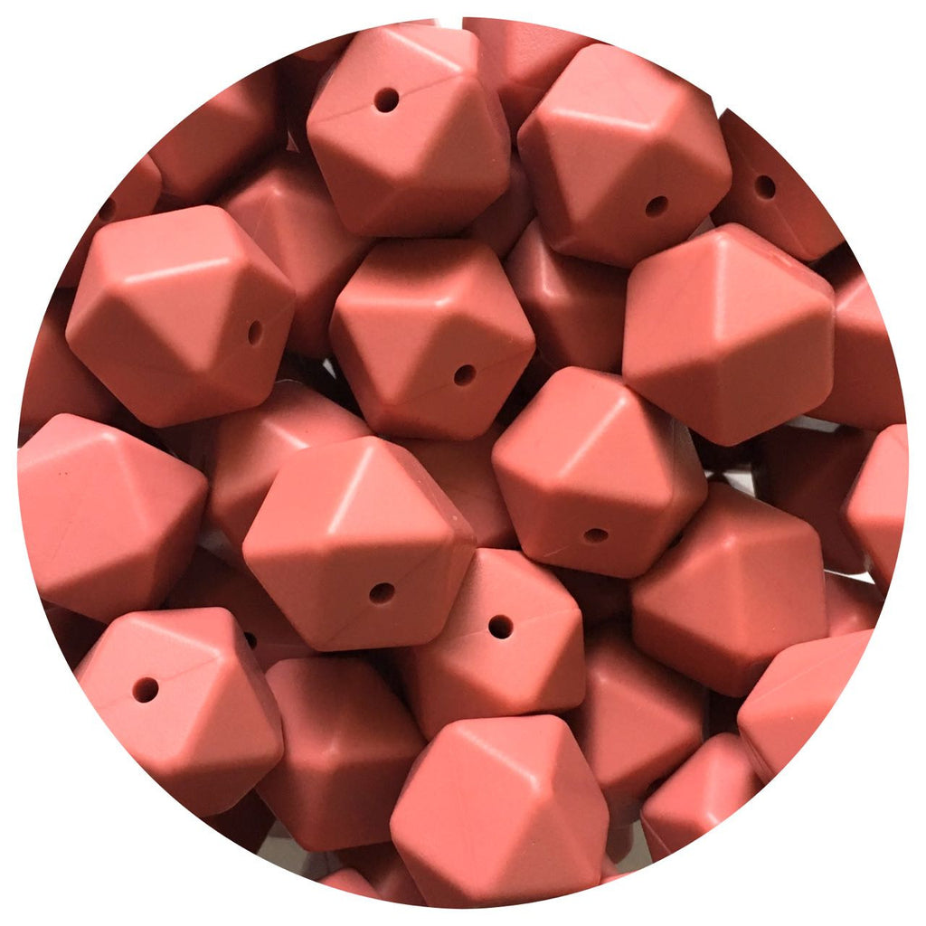 Maroon Red - 17mm Hexagon - 10/25pack