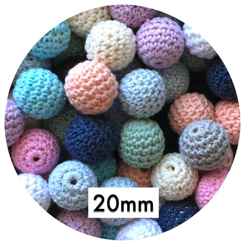 20mm Crochet Beads - Mixed Pack - 20pack