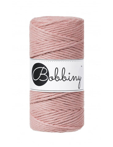 Bobbiny Single Twist Macrame Cord - 3mm - Blush