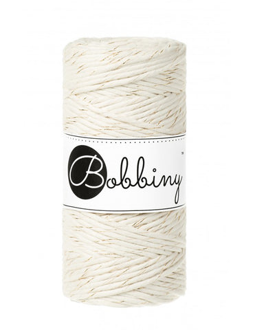 Bobbiny Single Twist Macrame Cord - 3mm - Golden Natural