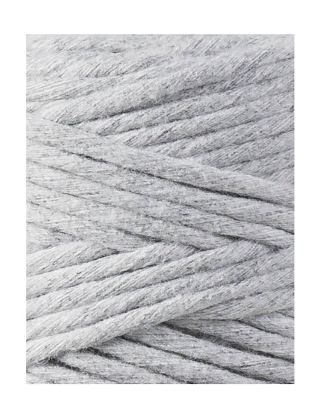 Bobbiny Single Twist Macrame Cord - 3mm - Light Grey