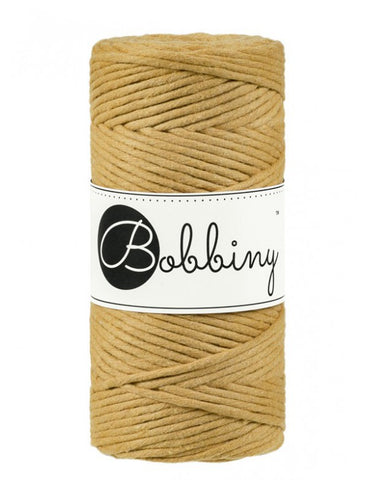 Bobbiny Single Twist Macrame Cord - 3mm - Mustard