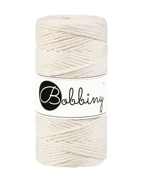 Bobbiny Single Twist Macrame Cord - 3mm - Natural