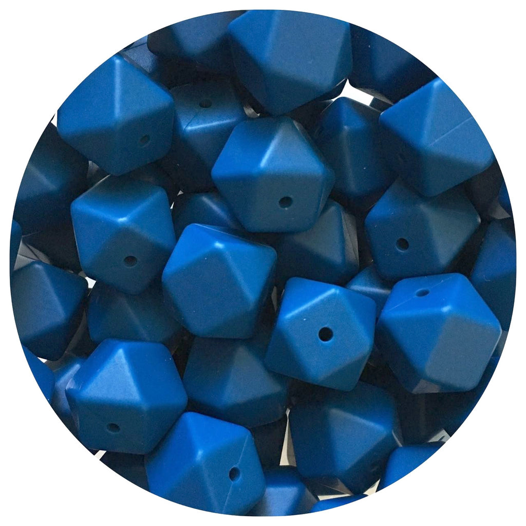 Indigo Blue - 17mm Hexagon - 10/20/50pack