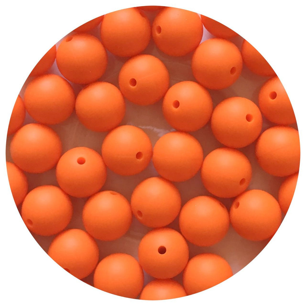 Tangerine Orange - 15mm round - 10/20/50pack