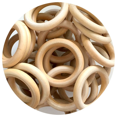 Natural Wood Rings - 65mm - 10/30/50pack