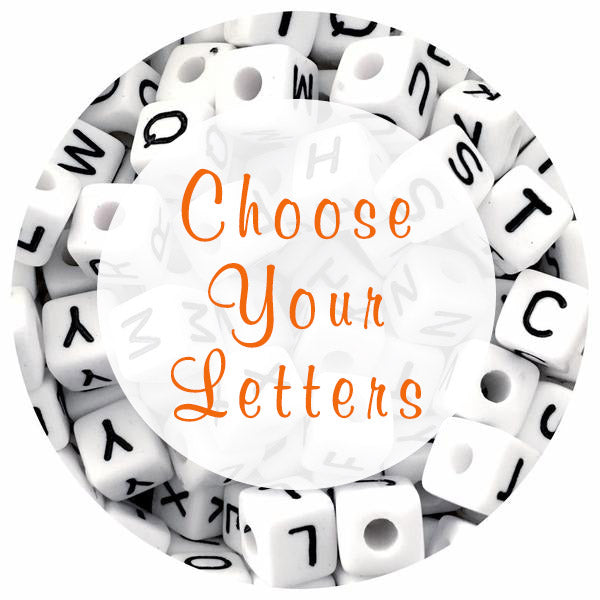 10mm Acrylic Letter Beads - Choose Your Letters - Each