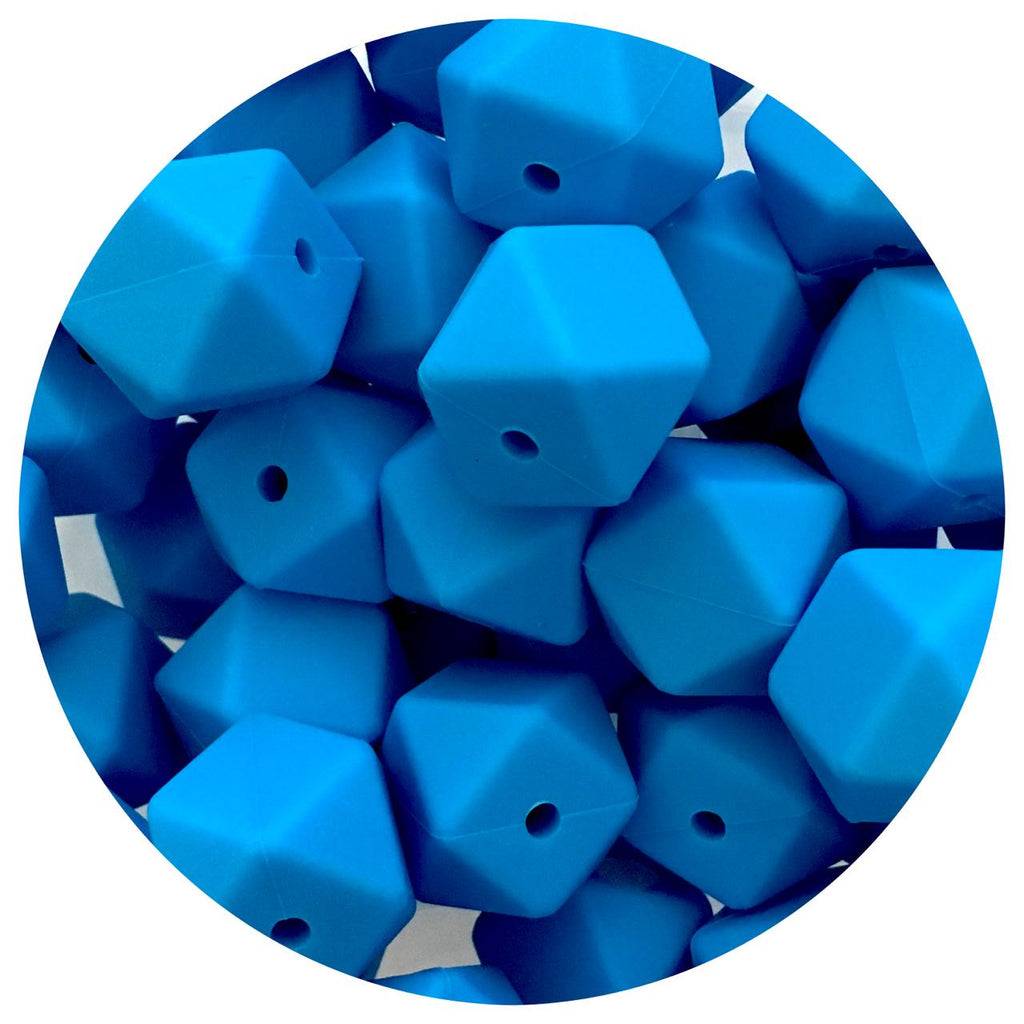 Sky Blue - 17mm Hexagon - 10/25pack