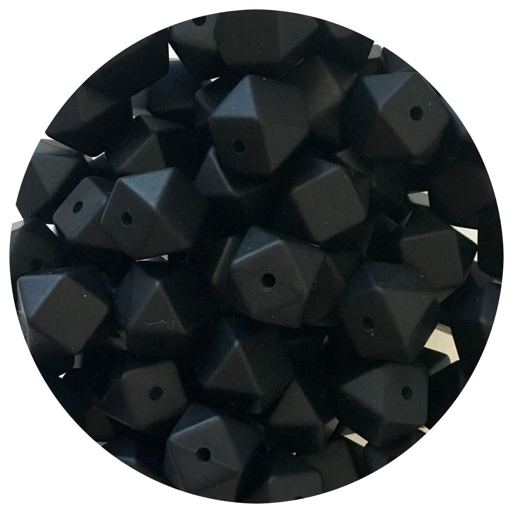 Jet Black - 14mm Mini Hexagon - 10/20/50pack