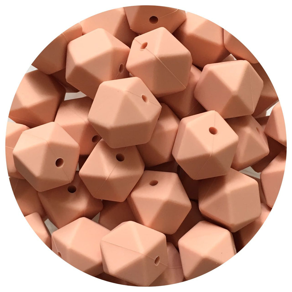 Peach - 17mm Hexagon - 10/20/50pack